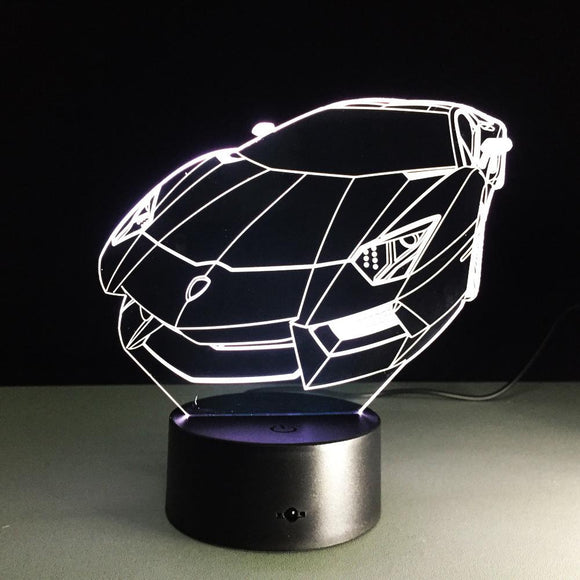 3D LED Changing Sports Car Night Light