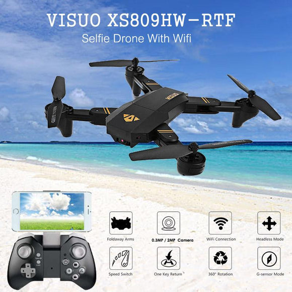 HD Camera Foldable Arms Quadcopter