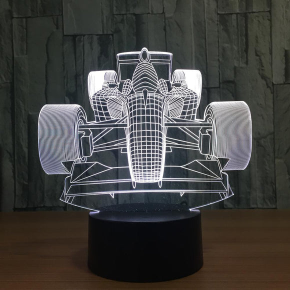 3D Racing Car LED Lamp
