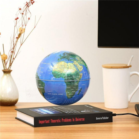 Levitating Anti Gravity Bookcase Globe