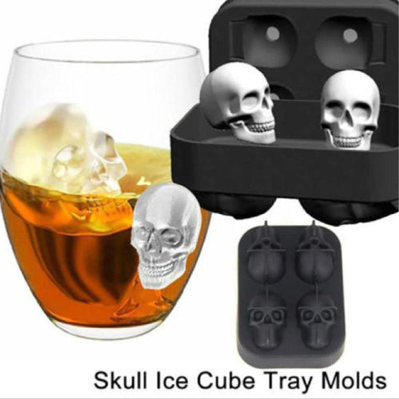 3D Skull Shape Ice Mould
