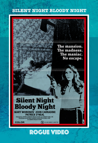"ROGUE VIDEO - rare horror DVDs - cult films & fiction ""SILENT NIGHT, BLOODY NIGHT"" (1972)"