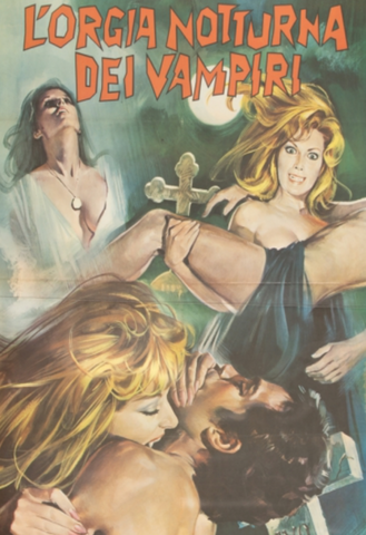 "ROGUE VIDEO - rare horror DVDs - cult films & fiction ""THE VAMPIRES NIGHT ORGY"" (1972)"