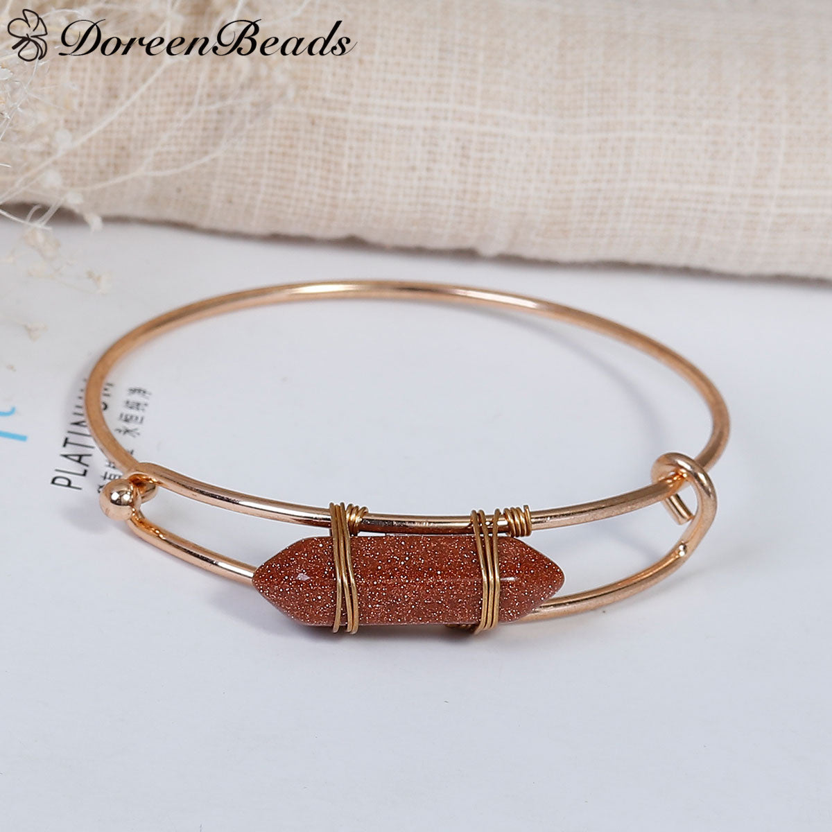 bracelet electrocardiogram bangle stones fashion alloy arrow charm natural heart lucky for bangles product women combination your follow bracelets stone with