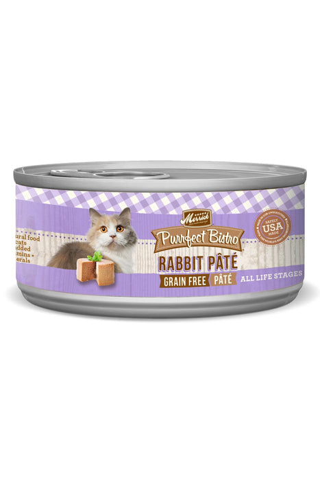 Merrick Purrfect Bistro Grain Free Rabbit Pate Canned Cat Food
