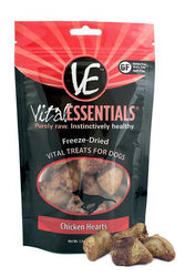 Vital Essentials Chicken Hearts Freeze-Dried Dog Treats