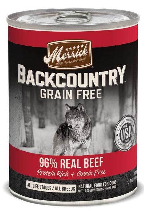 Merrick Backcountry 96% Real Beef Canned Dog Food