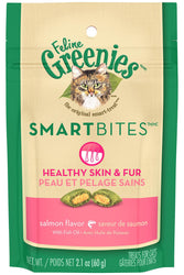 Greenies Smartbites Healthy Skin Fur Salmon Flavor Cat Treats