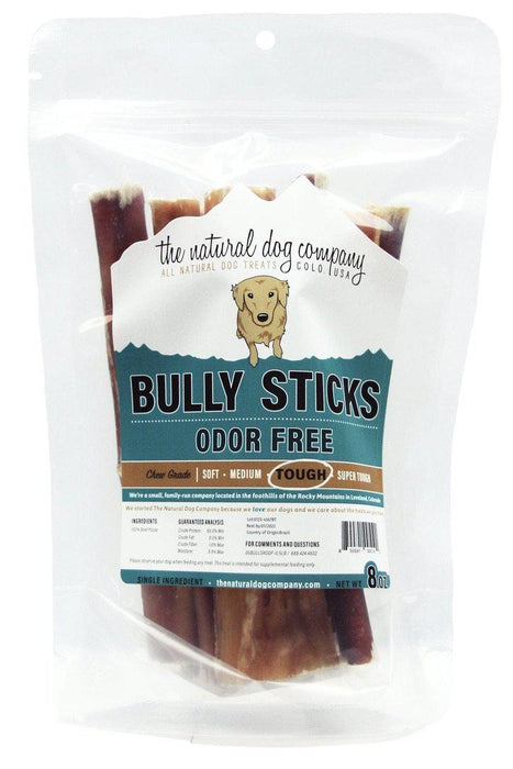 Natural Dog Co. Bully Sticks Bag, 6 Inch