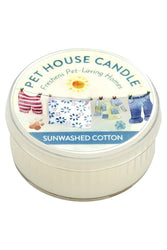 Pet House Candle Sunwashed Cotton, 3 oz