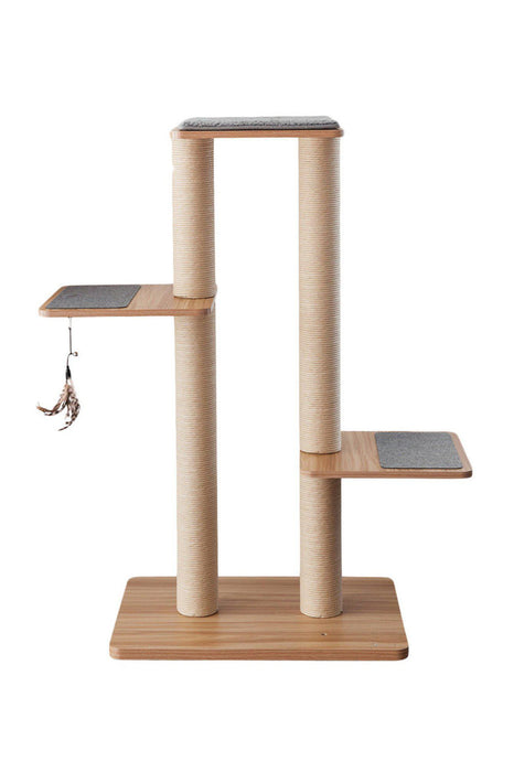 BeOneBreed Katt3 Evo Plus Walnut Cat Tree