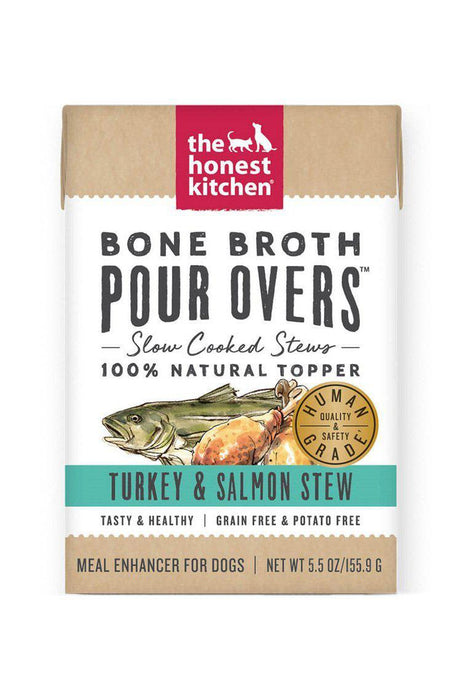 The Honest Kitchen Bone Broth Pour Over, Turkey & Salmon Stew
