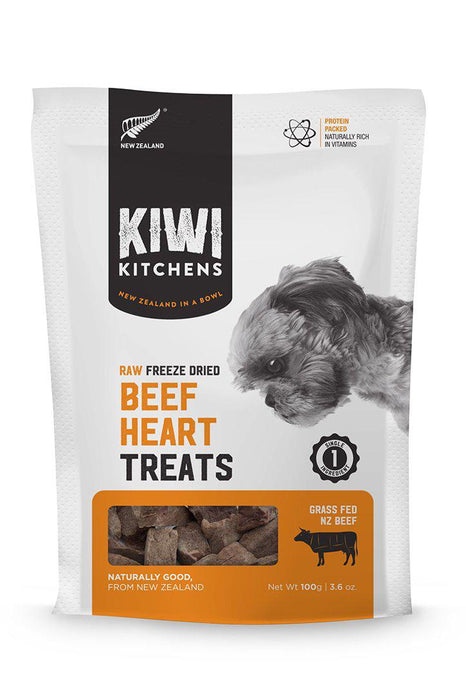 Kiwi Kitchens Freeze Dried Beef Heart Treats