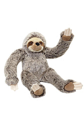 Fluff and Tuff Tico Sloth stuffed Dog Toy