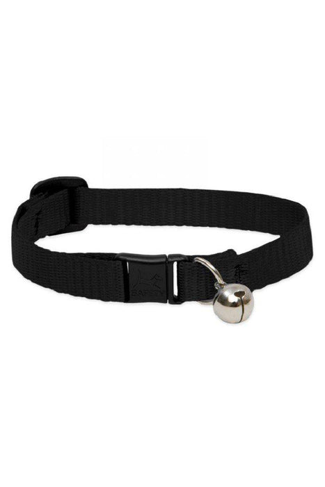 LupinePet Basics Black Cat Safety Collar with Bell
