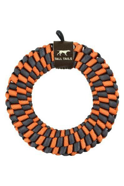 Tall Tails Braided Ring Orange Dog Toy