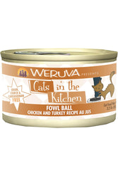 Cats in the Kitchen Fowl Ball Chicken & Turkey Canned Cat Food