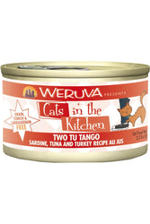 Cats in the Kitchen Two Tu Tango Sardine, Tuna & Turkey Canned Cat Food