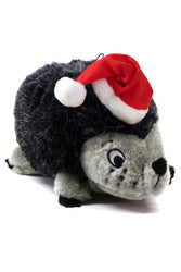 Outward Hound Hedgehogz with Santa Hat Dog Toy, Large