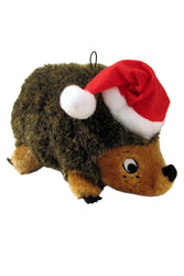 Outward Hound Hedgehogz with Santa Hat Dog Toy, Medium