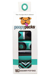 Metro Paws Poopy Packs Seafoam 8-Pack Dog Bags
