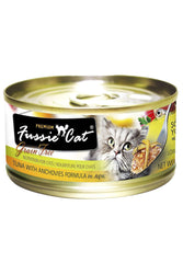 Fussie Cat Tuna with Anchovies in Aspic shredded wet Cat Food