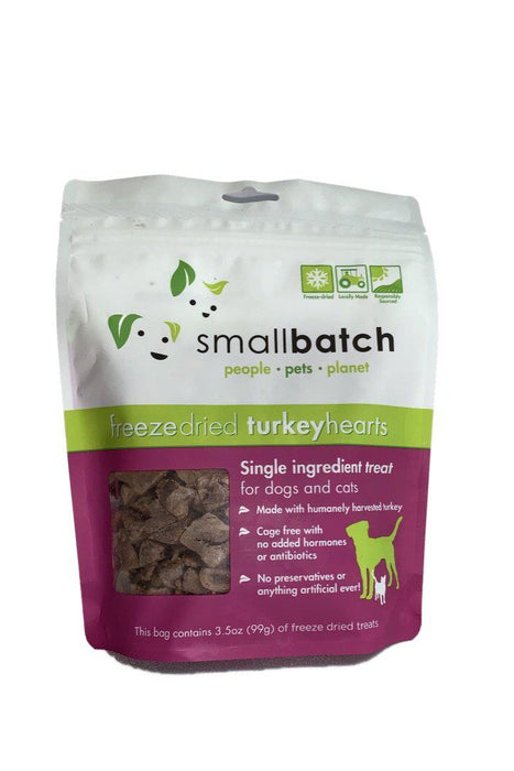 Small Batch Freeze-Dried Turkey Heart Dog Treats