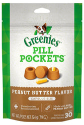 Greenies Pill Pockets Peanut Butter Flavor for Dogs, Capsule size