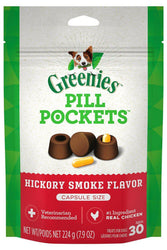 Greenies Pill Pockets Hickory Smoke Flavor for Dogs, Capsule size