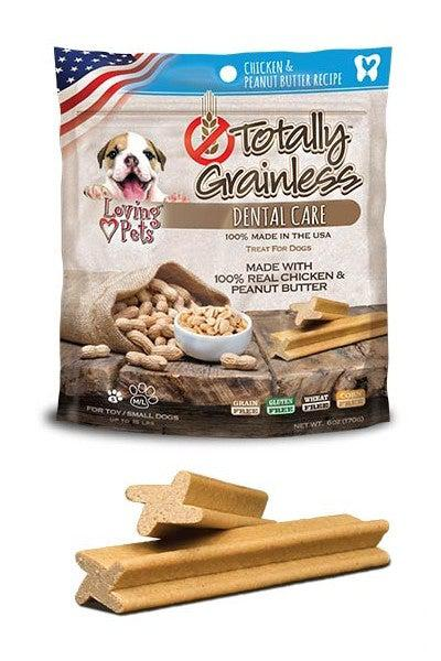 Loving Pets Peanut Butter & Chicken Dog Dental Chews