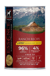 Essence Limited Ingredient Recipe Ranch lamb wet Dog Food