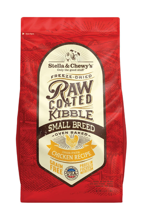 Stella Chewys Raw Coated Cage Free Chicken Recipe Small Breed Dog