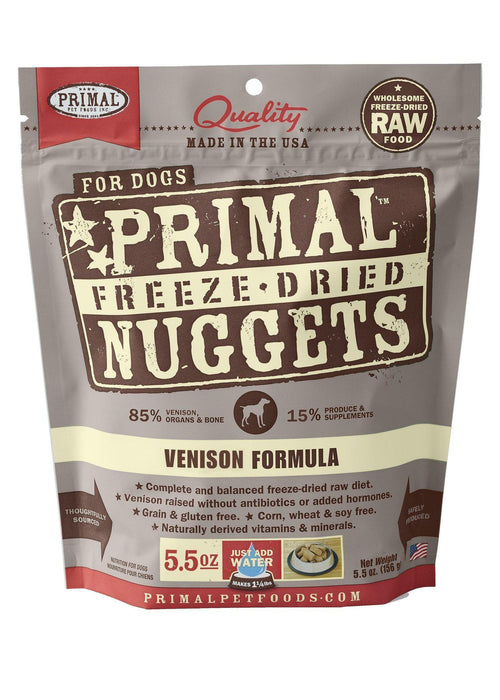Primal Freeze-Dried Nuggets Canine Venison Formula