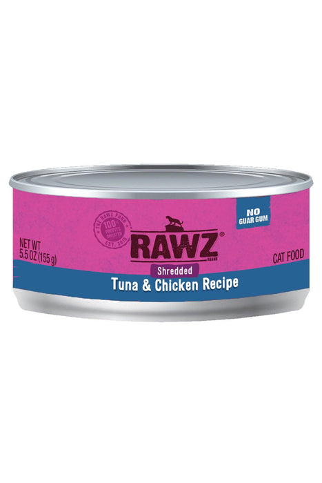 Rawz Shredded Tuna & Chicken Cat Food Can