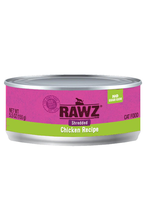 Rawz Shredded Chicken Cat Food Can