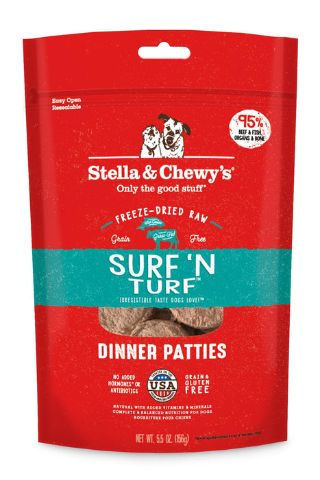 Stella & Chewy's Surf 'N Turf Freeze Dried Dinner Patties