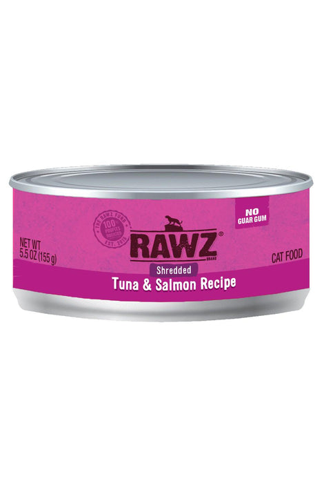 Rawz Shredded Tuna & Salmon Cat Food Can