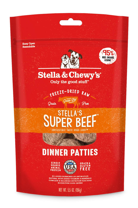 Stella & Chewy's Super Beef Freeze Dried Dinner Patties