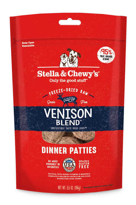 Stella & Chewy's Venison Blend Freeze Dried Dinner Patties
