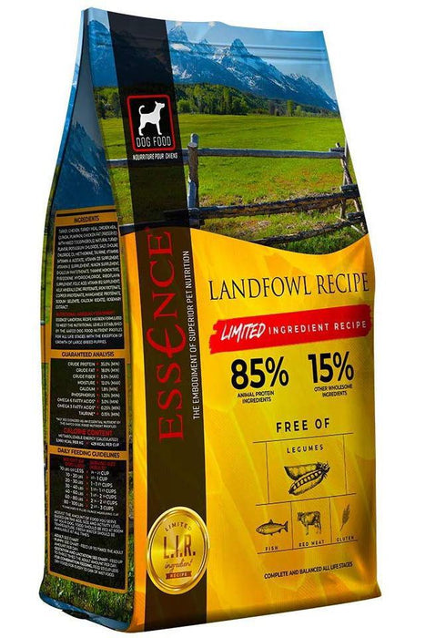 Essence Limited Ingredient Recipe Landfowl turkey Dry Dog Food