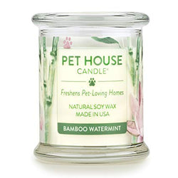 Pet House Candle, Bamboo Watermint