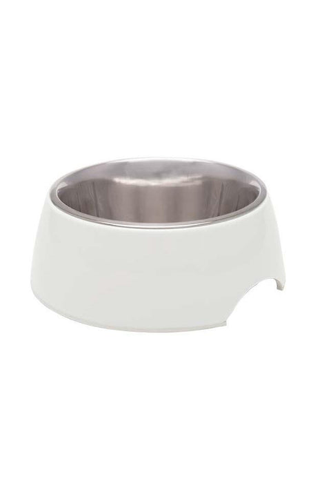 Loving Pets Retro Ice White Dog Bowl