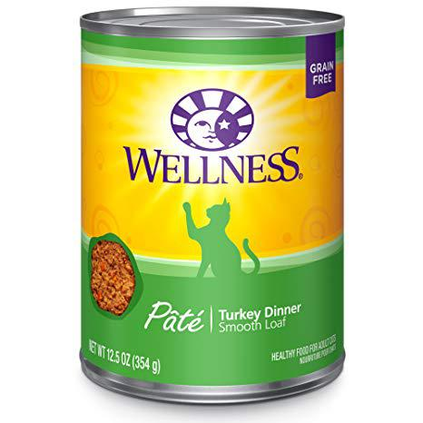 Wellness Turkey Canned Cat Food, 12 oz