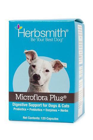 Herbsmith Microflora Plus Digestive Supplement for Dogs, 120 ct