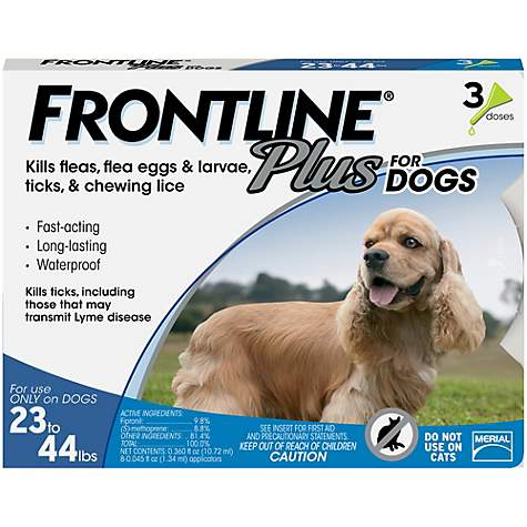 Frontline Plus Flea Treatment for Dogs, 23-44 lbs