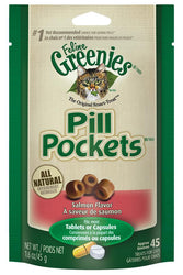 Greenies Pill Pockets Salmon Flavor Cat Treats
