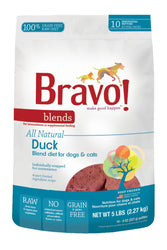 Bravo! Duck Blend Diet for Dogs and Cats Raw Food