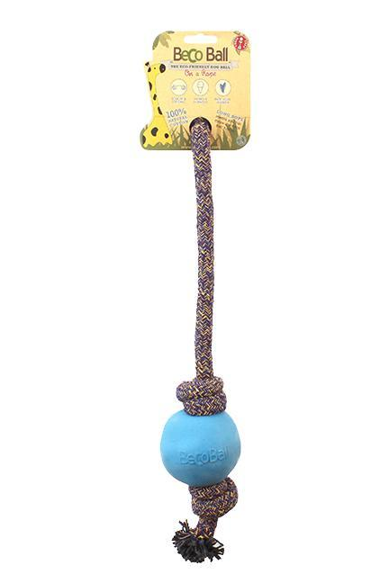 Beco Pets Ball on a Rope Dog Toy
