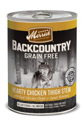 Merrick Backcountry Grain-Free Hearty Chicken Thigh Stew Canned Dog Food