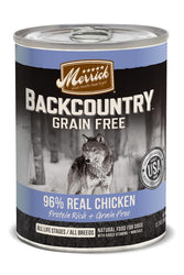 Merrick Backcountry 96% Real Chicken Recipe Canned Dog Food